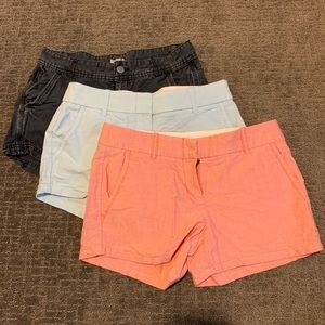 JCREW shorts bundle (3) size 00